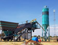 Constmach concrete plant 60 m3/h MOBILE CONCRETE PLANT, WITH BUILT-IN TYPE CEMENT SILO